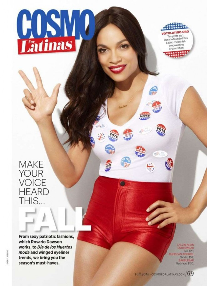 Rosario Dawson - Cosmopolitan for Latinas Magazine (October 2014) adds