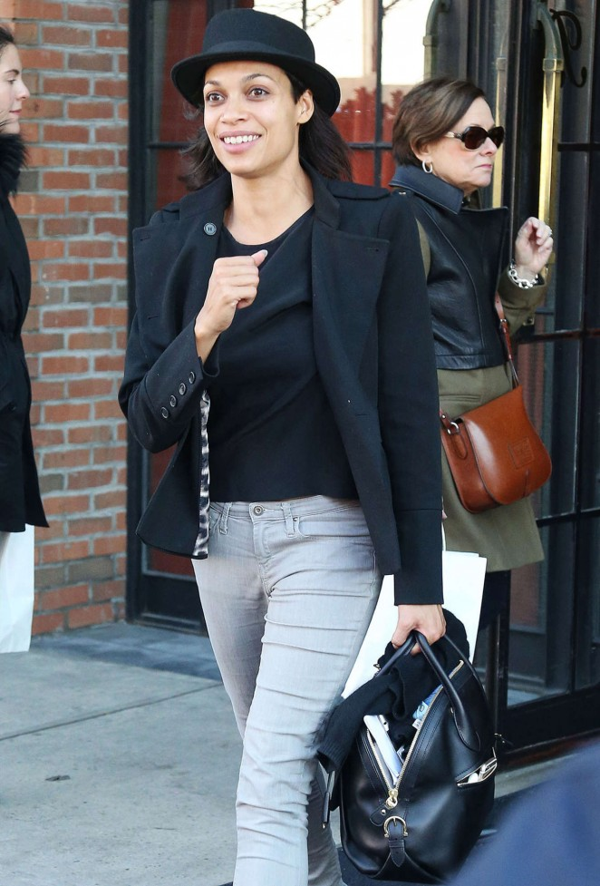 Rosario Dawson Street Style - Out and About in New York