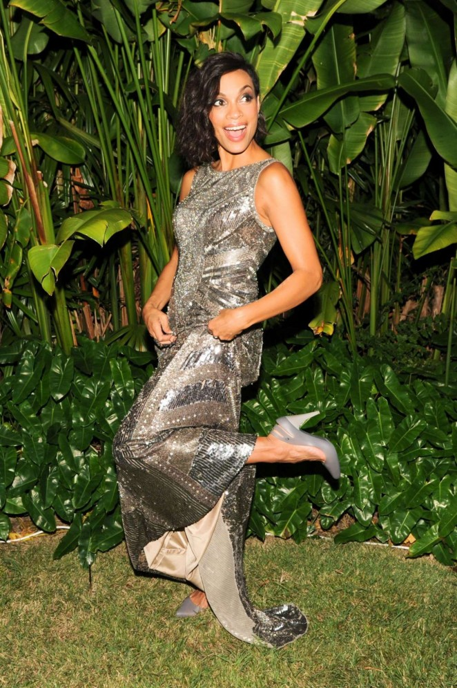 Rosario Dawson - Time to Rise Cocktail in Miami Beach
