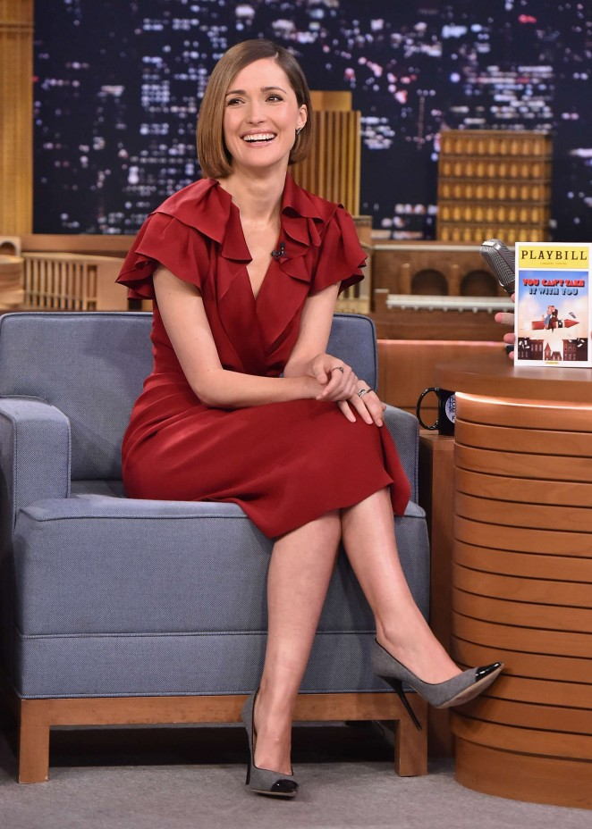 "Rose Byrne at ""The Tonight Show with Jimmy Fallon"" in NYC"