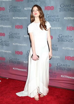 Rose Leslie: Game of Thrones NY Premiere -08