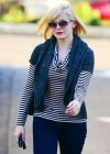 Rose McGowan in tight pants at a hair salon in LA 1/14/13