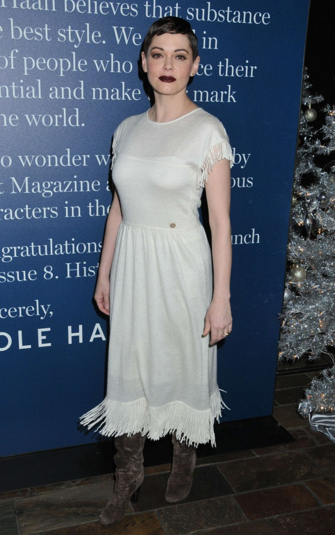 Rose McGowan - FLATT Magazine's 'History Begins Here' Launch Party in NYC