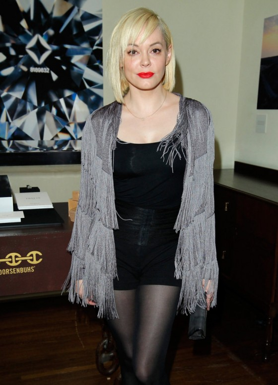 Rose McGowan at Hoorsenbuhs For Forevermark Cocktail Party