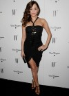 Rose McGowan - leggy in black dress at W Magazines 69th Annual Golden Globe Party-02
