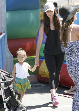 Roselyn Sanchez in Spandex at Farmers Market in Studio City