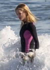Rosie Huntington Whiteley - bikini candids in Malibu -03
