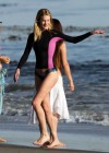 Rosie Huntington Whiteley - bikini candids in Malibu -05