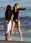 Rosie Huntington Whiteley - bikini candids in Malibu -06