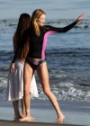 Rosie Huntington Whiteley - bikini candids in Malibu -08