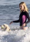 Rosie Huntington Whiteley - bikini candids in Malibu -10