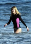 Rosie Huntington Whiteley - bikini candids in Malibu -14