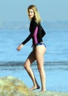 Rosie Huntington Whiteley - bikini candids in Malibu -17
