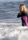 Rosie Huntington Whiteley - bikini candids in Malibu -21