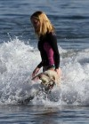 Rosie Huntington Whiteley - bikini candids in Malibu -22