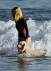 Rosie Huntington Whiteley - bikini candids in Malibu -24