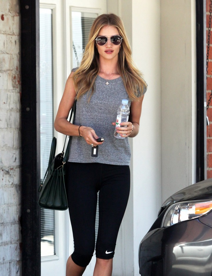 Rosie Huntington-Whiteley leaving a gym in West Hollywood-10