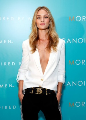 Rosie Huntington Whiteley - Moroccanoil Inspired by Women campaign launch in NYC
