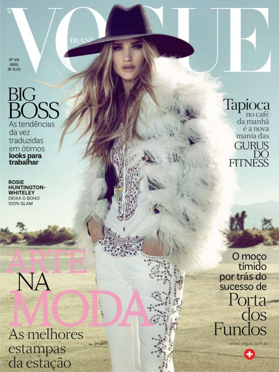 Rosie Huntington Whiteley – Vogue Brazil – April 2013 -01