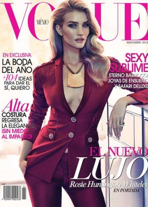 Rosie Huntington-Whiteley - Vogue Mexico Magazine Cover (November 2014)