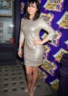 Roxanne Pallett wear silver dress at Cadbury Unwrap Gold Launch Party East London (April 12)