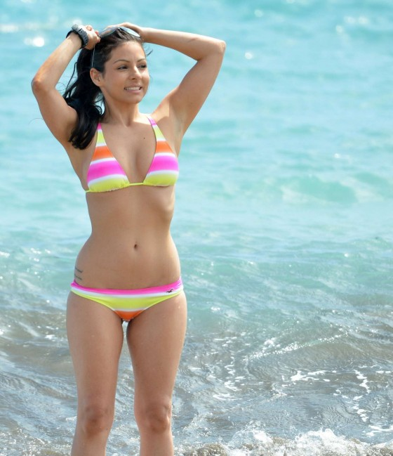Roxanne Pallett – Hot Bikini candids in Tenerife-02