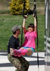 Roxanne Pallett - Outdoor Gym Workout -35