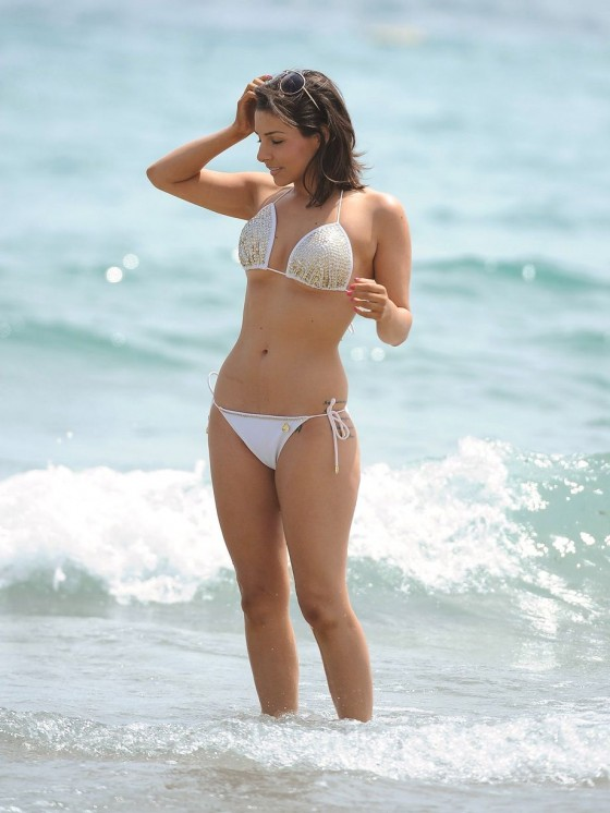 Roxanne Pallett - wearing a bikini in Spain -08
