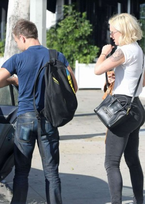 Rumer Willis in jeans while out in LA