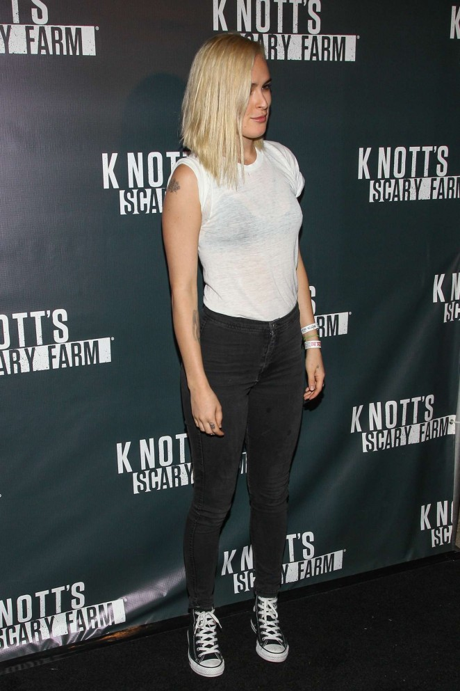 Rumer Willis – Knott's Scary Farm Opening Night in Buena Park