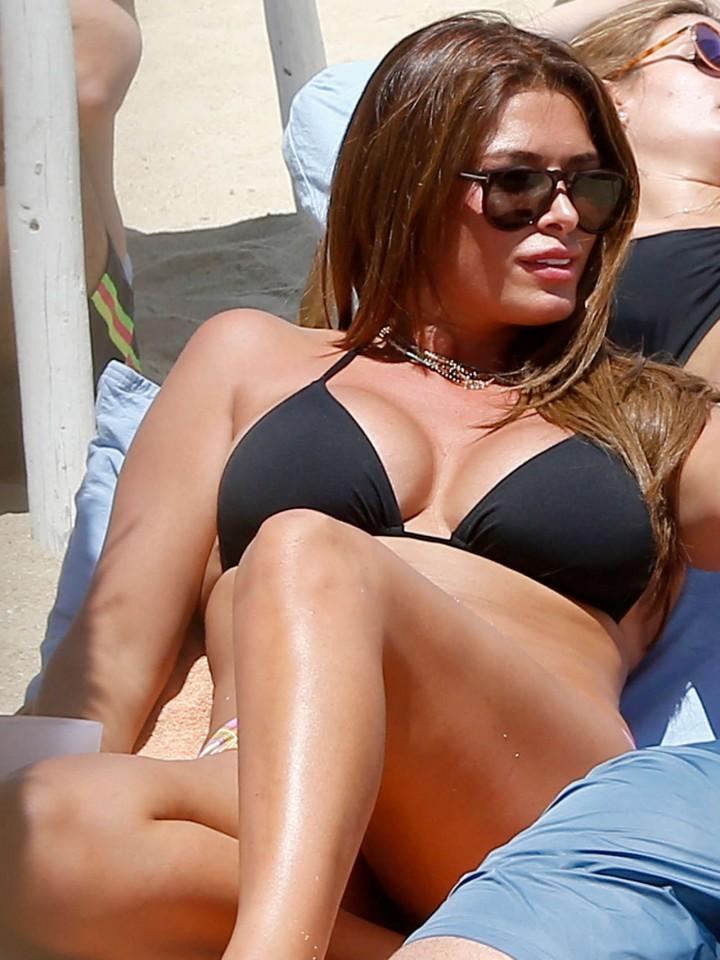Sabia Bouhlahrouz in a Black Bikini in Saint-Tropez-03