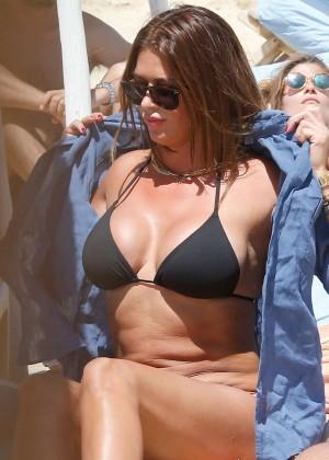 Sabia Bouhlahrouz in a Black Bikini in Saint-Tropez-05