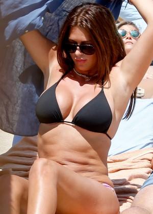 Sabia Bouhlahrouz in a Black Bikini in Saint-Tropez-08