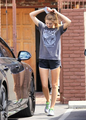 Sadie Robertson in Short Shorts at DWTS Rehearsal in LA