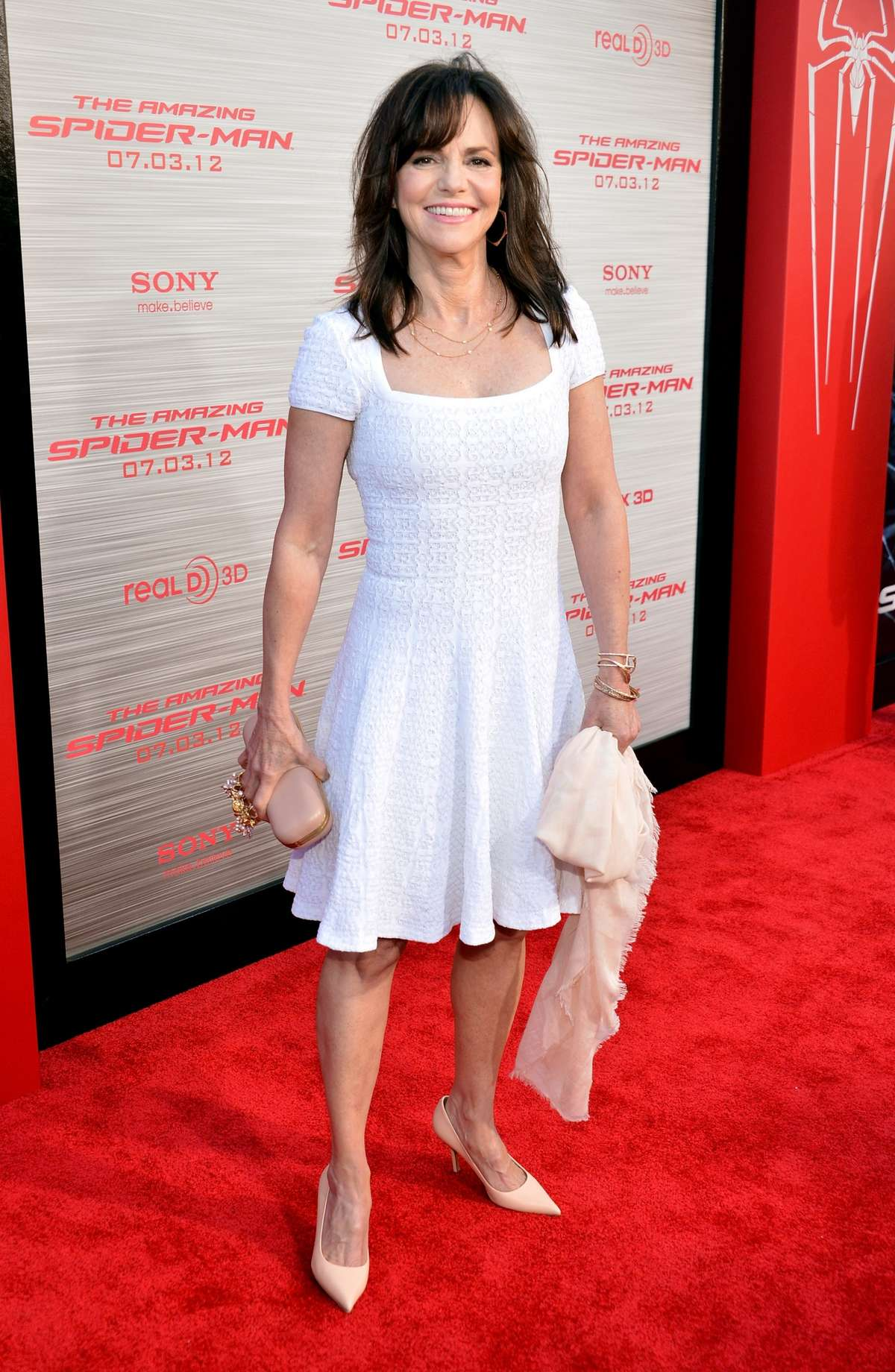 Sally Field - in a white dress at The Amazing Spider-Man Premiere-08 ...