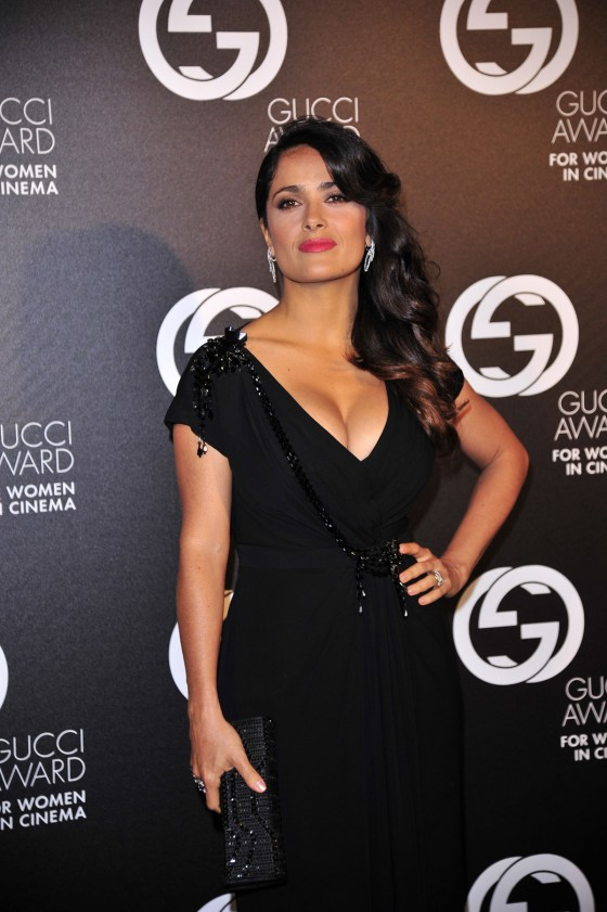 Salma Hayek – Hot In Black Dress at 2012 Award for Women in Cinema-01