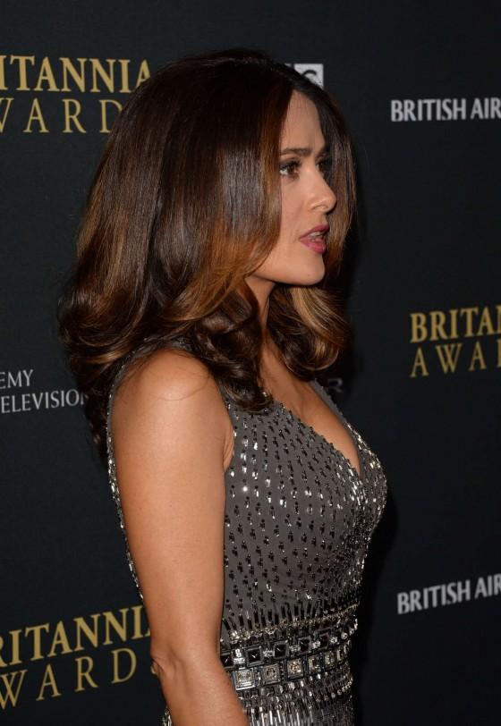 salma hayek 2013 bafta britannia awards 03 gotceleb