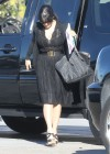 Salma Hayek - At an airport in Los Angeles-04