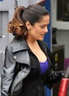 Salma Hayek - On the set of Grown Ups 2 in Marblehead-03
