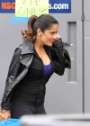 Salma Hayek - On the set of Grown Ups 2 in Marblehead-08