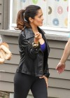 Salma Hayek - On the set of Grown Ups 2 in Marblehead-09