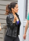 Salma Hayek - On the set of Grown Ups 2 in Marblehead-12