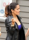 Salma Hayek - On the set of Grown Ups 2 in Marblehead-13