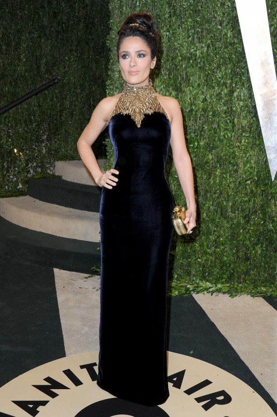 Salma Hayek – Oscar 2013 – Vanity Fair Party -07