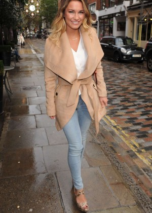 Sam Faiers in Jeans at Covent Garden Hotel in London