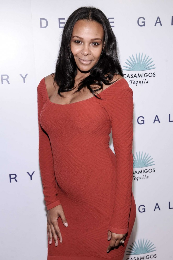 Samantha Mumba in Red Dress at Brian Bowen Smith Opening Night in LA