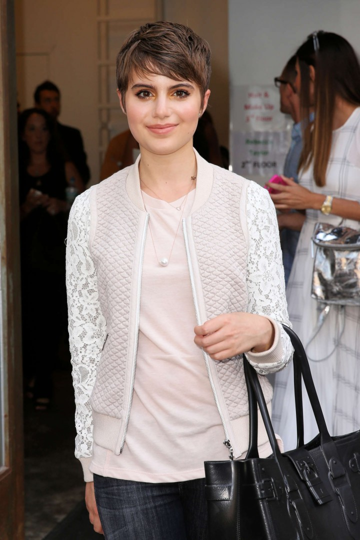 Sami Gayle in Jeans Leaving Center 548 in NYC