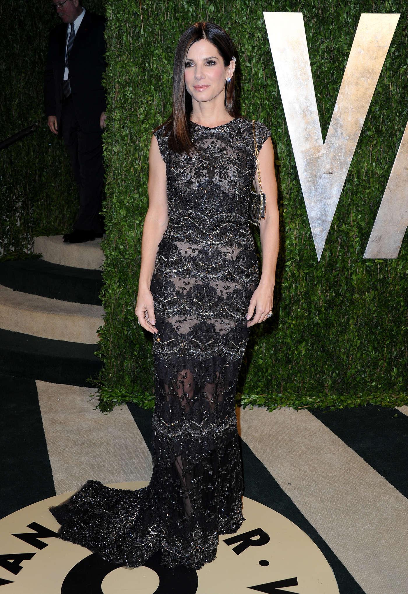 Sandra Bullock 2013 : Sandra Bullock – Oscar 2013 – Vanity Fair Party -02