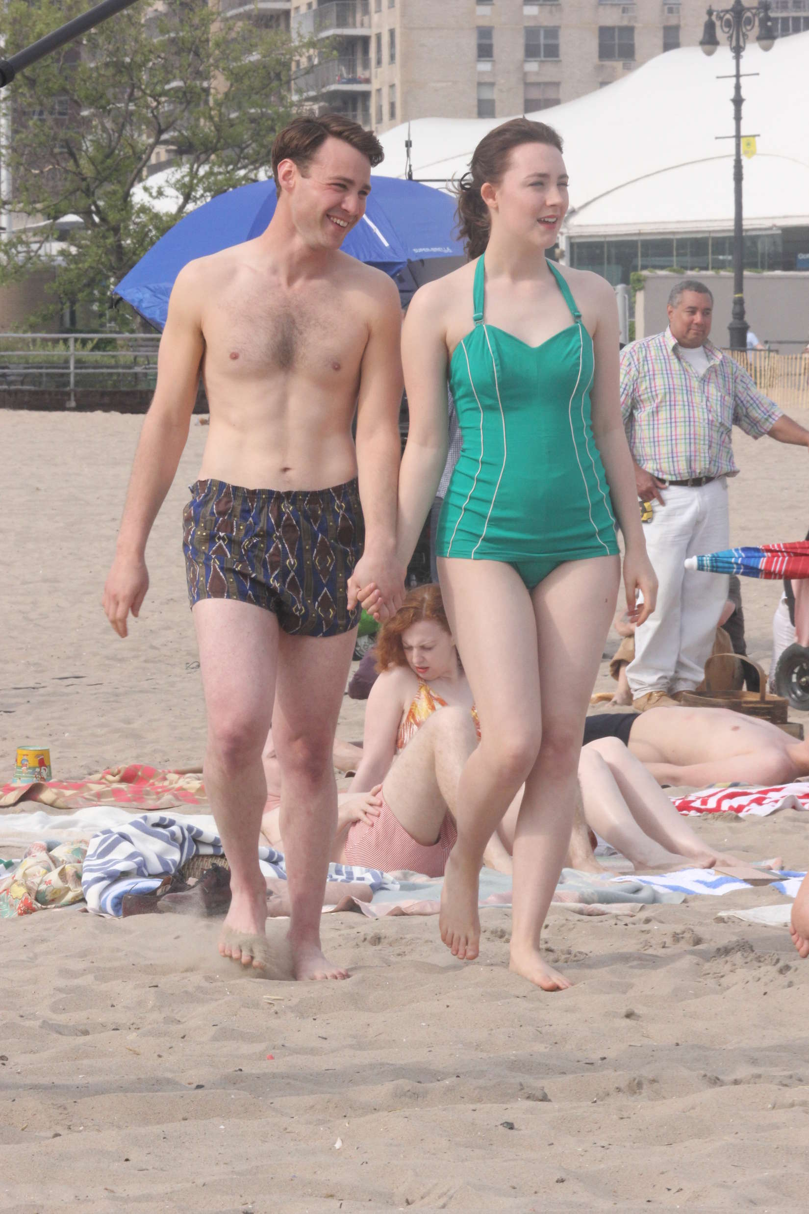 Saoirse Ronan In Green Swimsuit 27 Gotceleb