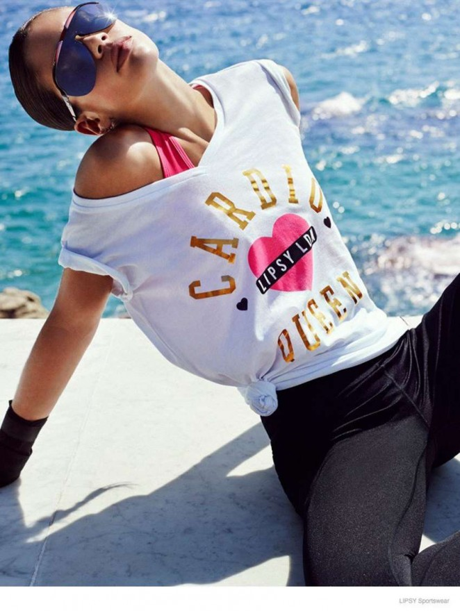 Sara Sampaio: Lipsy Sportswear 2014 Collection -02